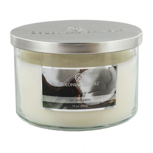 Coconut Palm Luxury Scented Candle By Colonial Candle